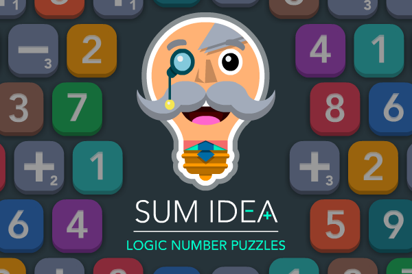 SUM IDEA - A new free-to-play sliding, logic, number puzzle for iPhone, iPad and iPod touch. Download for free from the App Store.