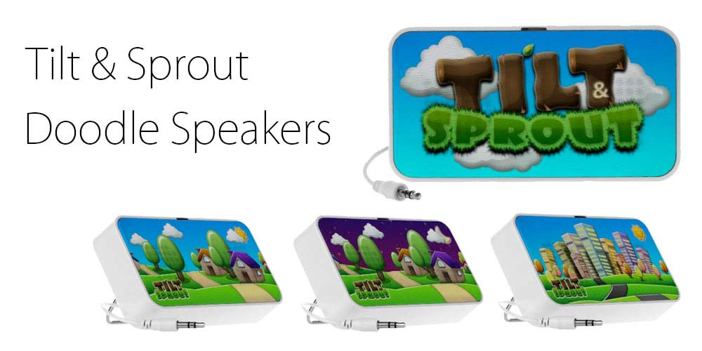 Tilt & Sprout doodle speakers available now